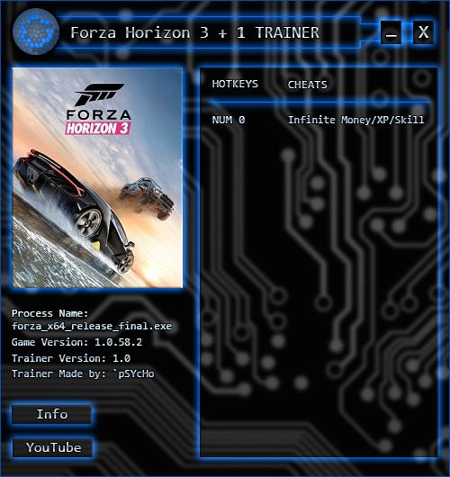скачать трейнер для Forza Horizon 3 - фото 3