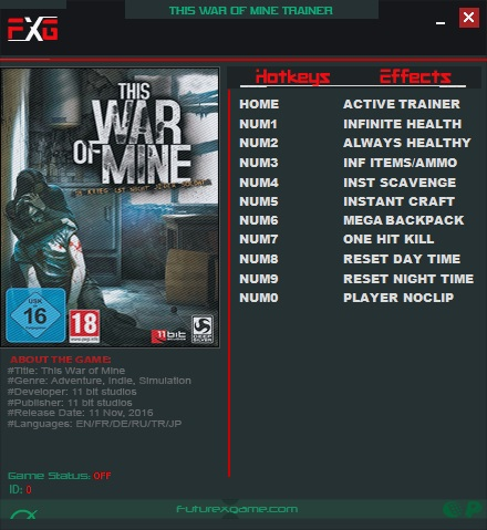 скачать трейнер на This War Of Mine - фото 9