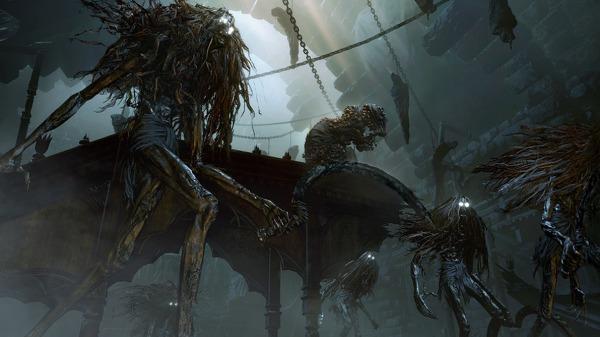 Монстры и промежуточные боссы в геймплейном ролике Bloodborne