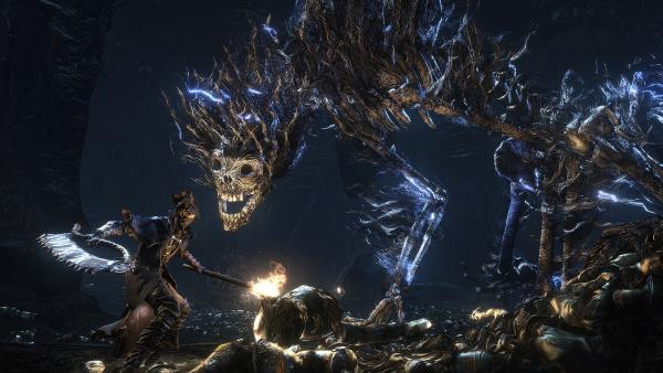 Сверкающий молниями Темный зверь в трейлере Bloodborne