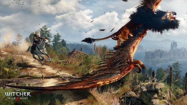 Грифоны свободно обитают в открытом мире The Witcher 3: Wild Hunt