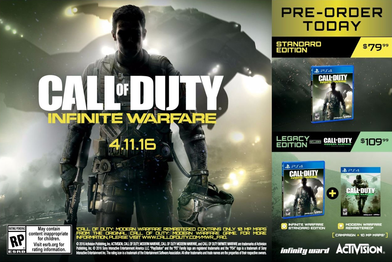 Ремастеринг Modern Warfare, входящий в состав Infinite Warfare, содержит то