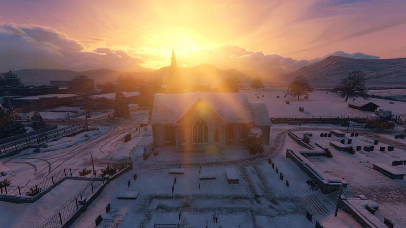 Подробное исследование заснеженного Людендорфа в GTA 5