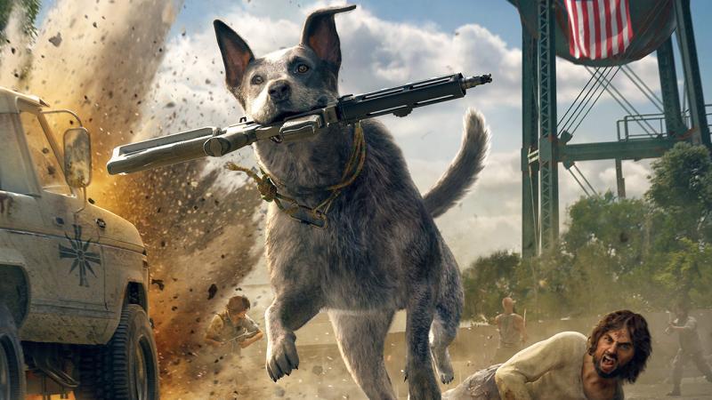 В Far Cry 5 можно вылечить пса-компаньона Бумера, погладив его по животику