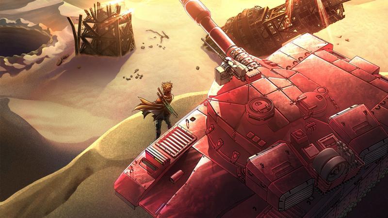 Новые танки и битвы с боссами на скриншотах и артах Metal Max Xeno