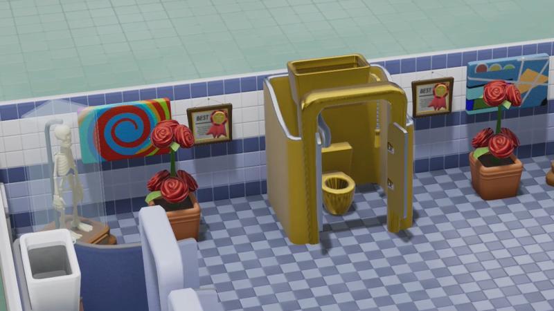 Подписчики новостной рассылки Two Point Hospital получат золотые туалетные кабинки