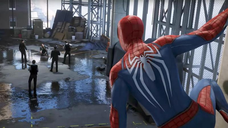 Стелс, гаджеты и прочее в новом геймплее Spider-Man