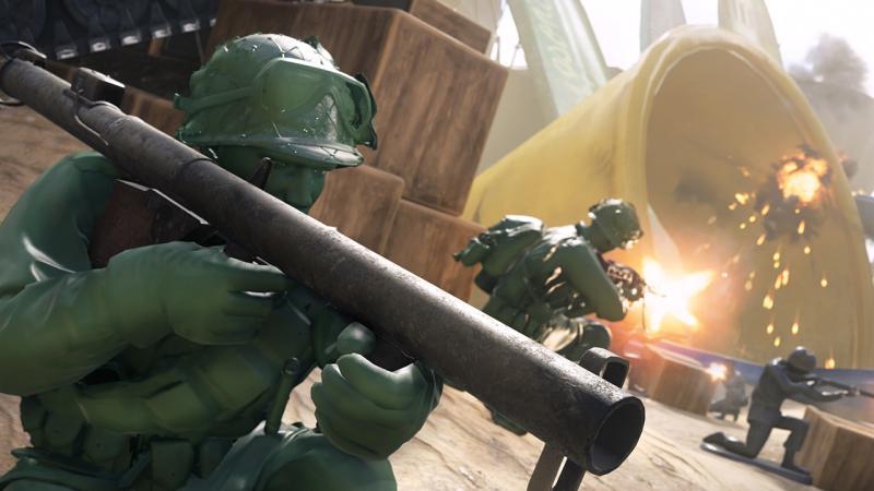 Зеленые игрушечные солдатики пожаловали в Call of Duty: WWII
