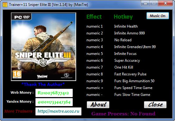 скачать трейнер для sniper elite 3