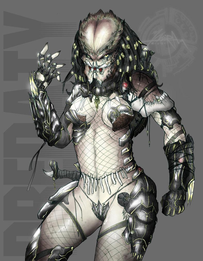 Alien female human male anime film