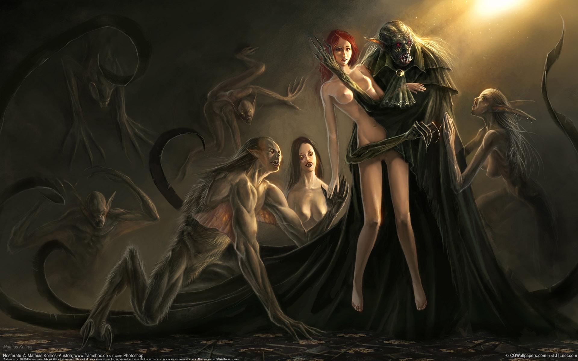 фэнтези девушки и монстры картинки
