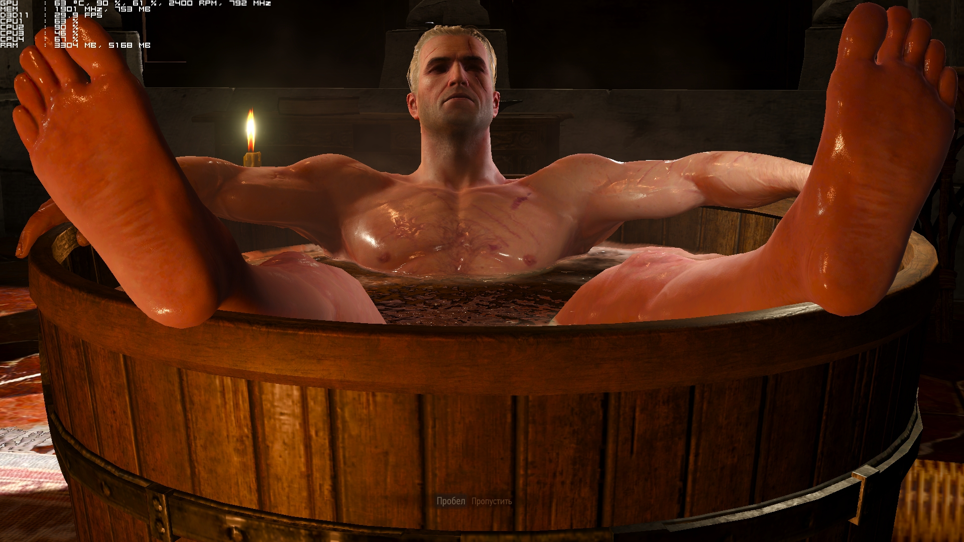 Witcher nude art naked photo