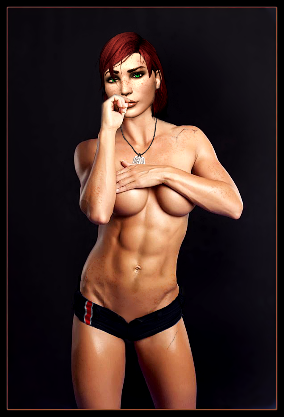 Naked femshep mod sex comics