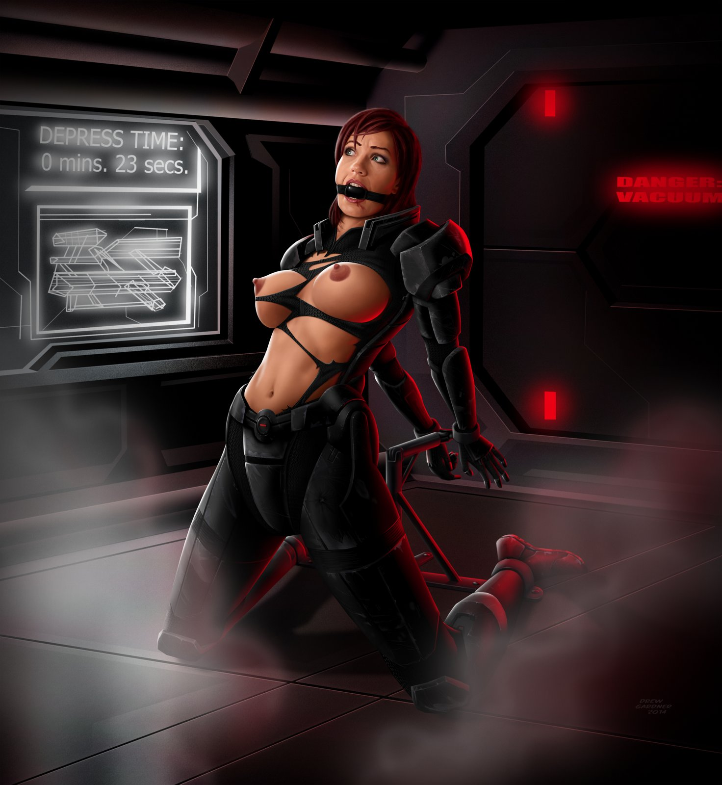 Mass effect liara bound gagged stories porn submissive butts
