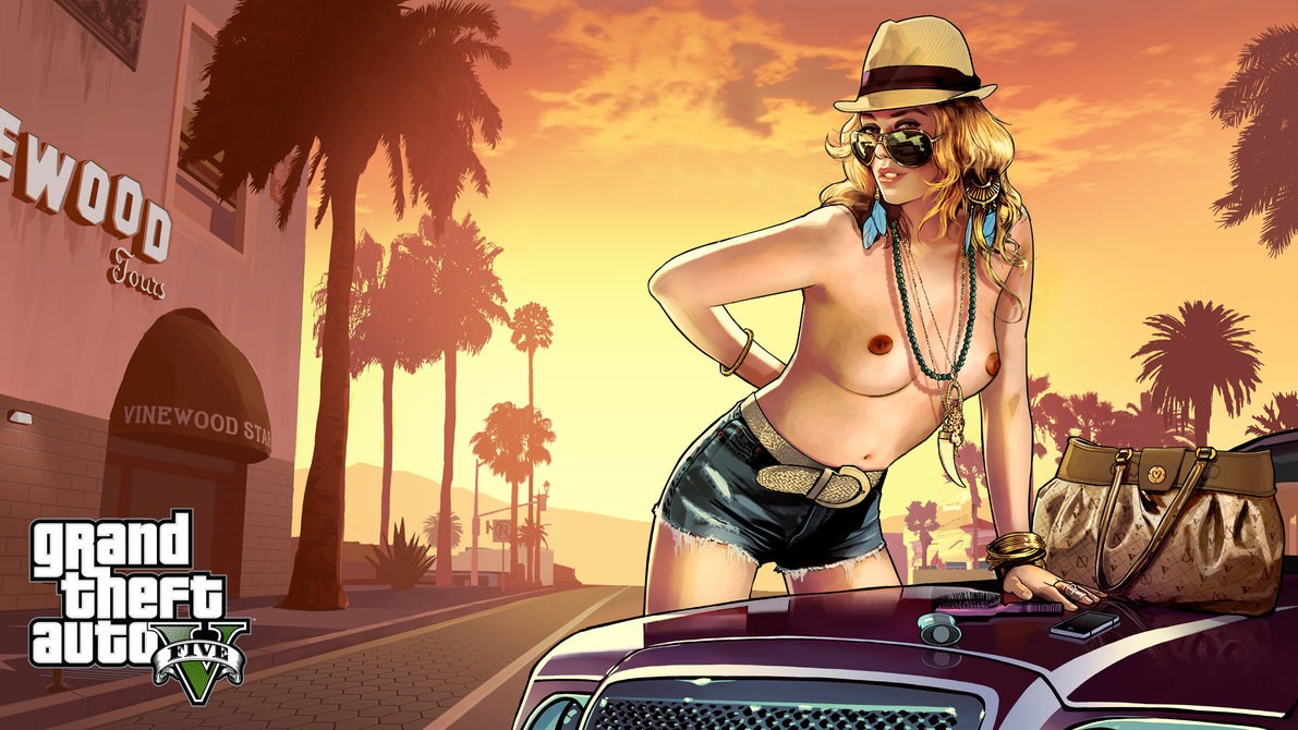 Nude girl in grand theft auto porno toons