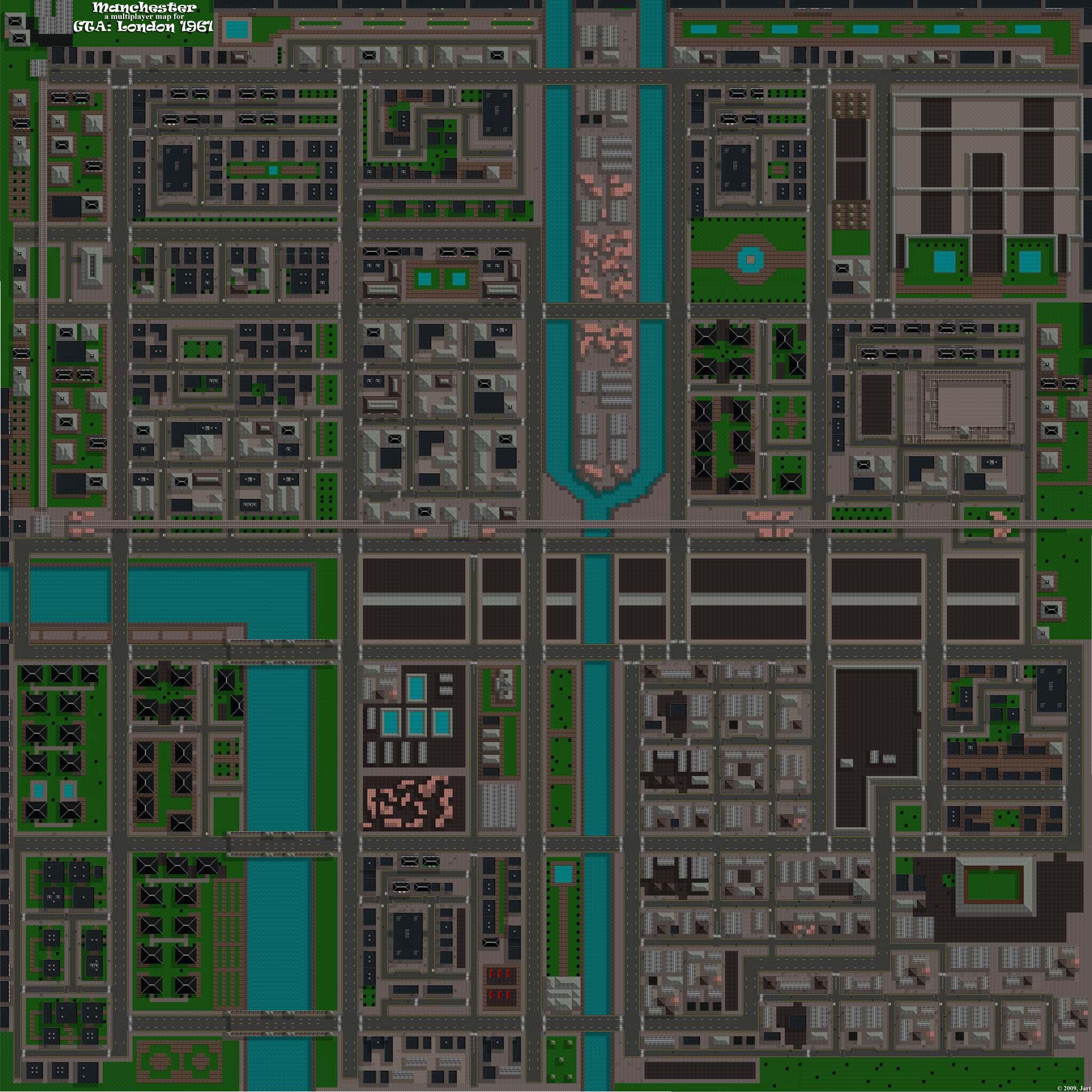 Manchester: a multiplayer map for GTA:London 1961. Основные постройки