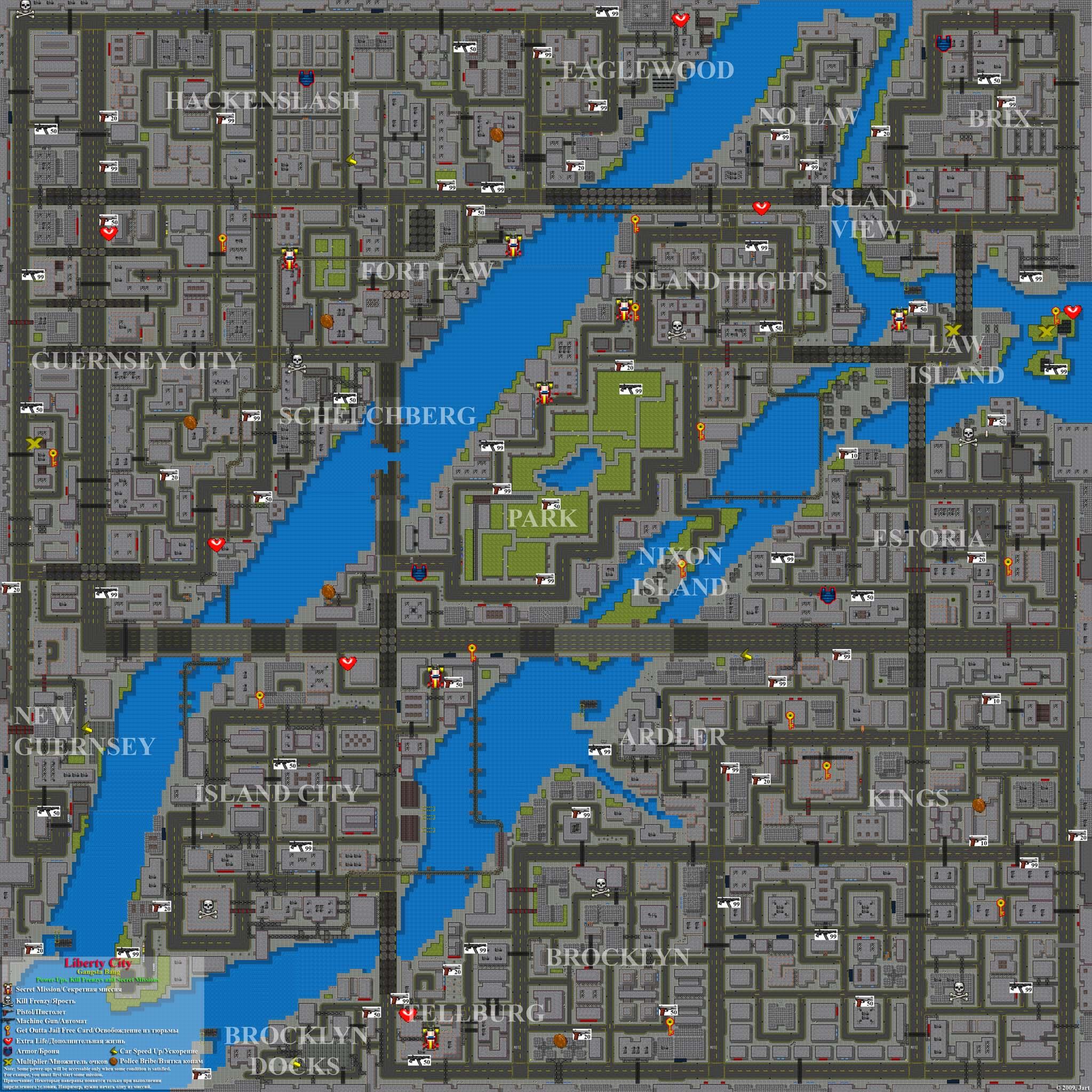 Liberty City: Gangsta Bang. Full Map