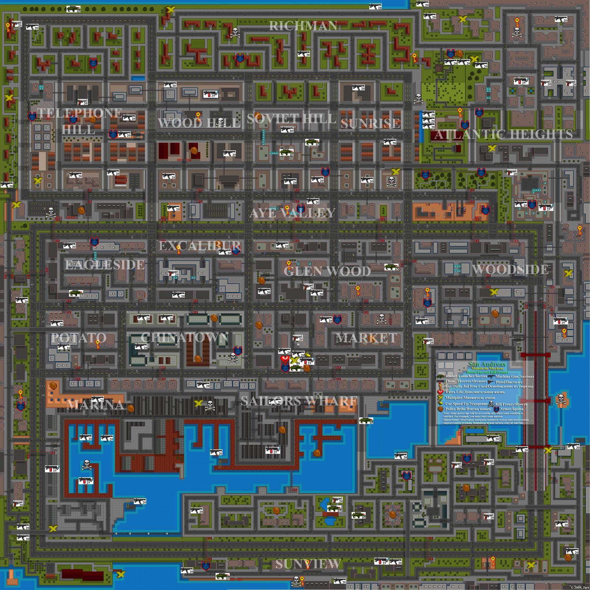 San Andreas: Mandarin Mayhem. Full Map