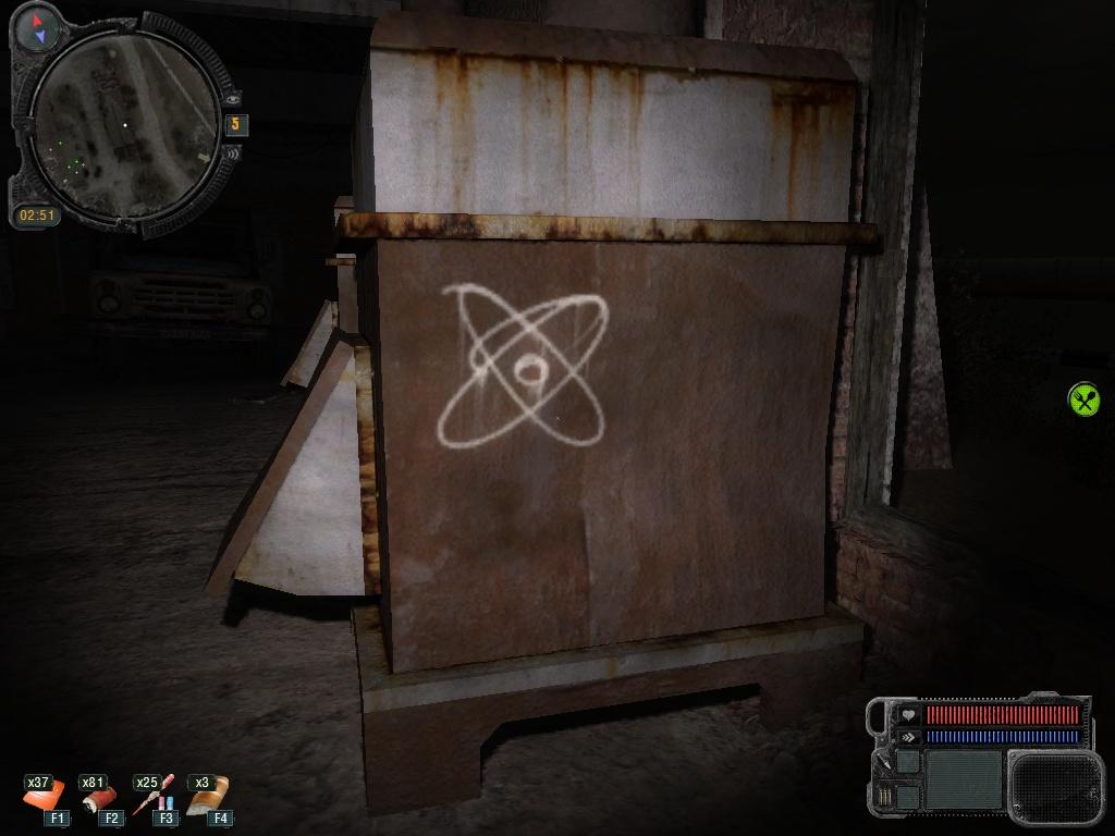 Как в сталкер зов припяти открыть ящик с газом