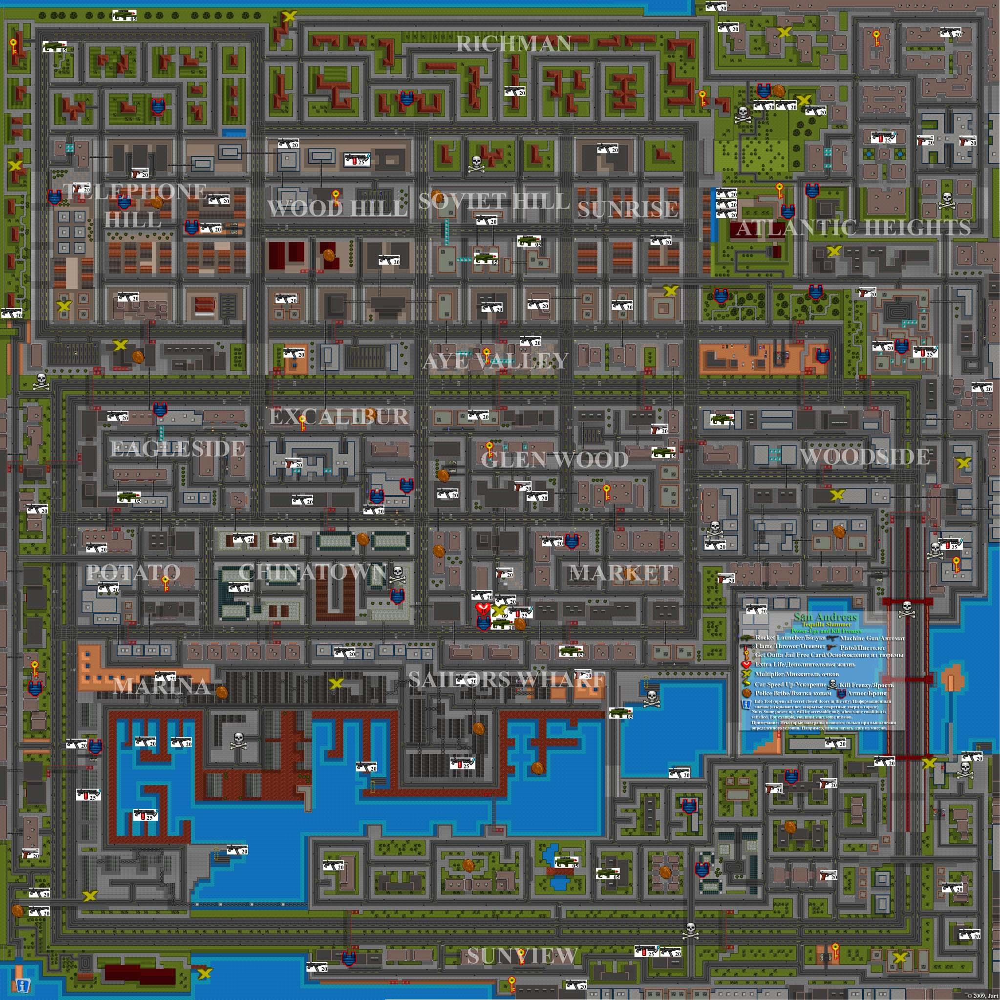 San Andreas: Tequilla Slammer. Full Map