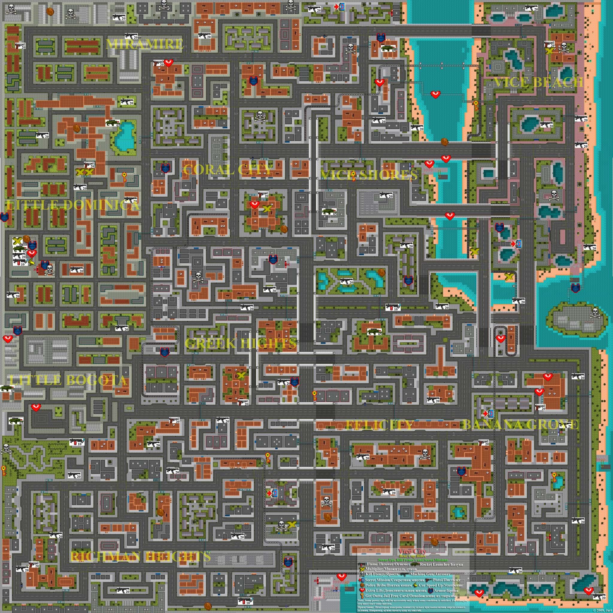 Vice City: Bent Cop Blues. Full Map