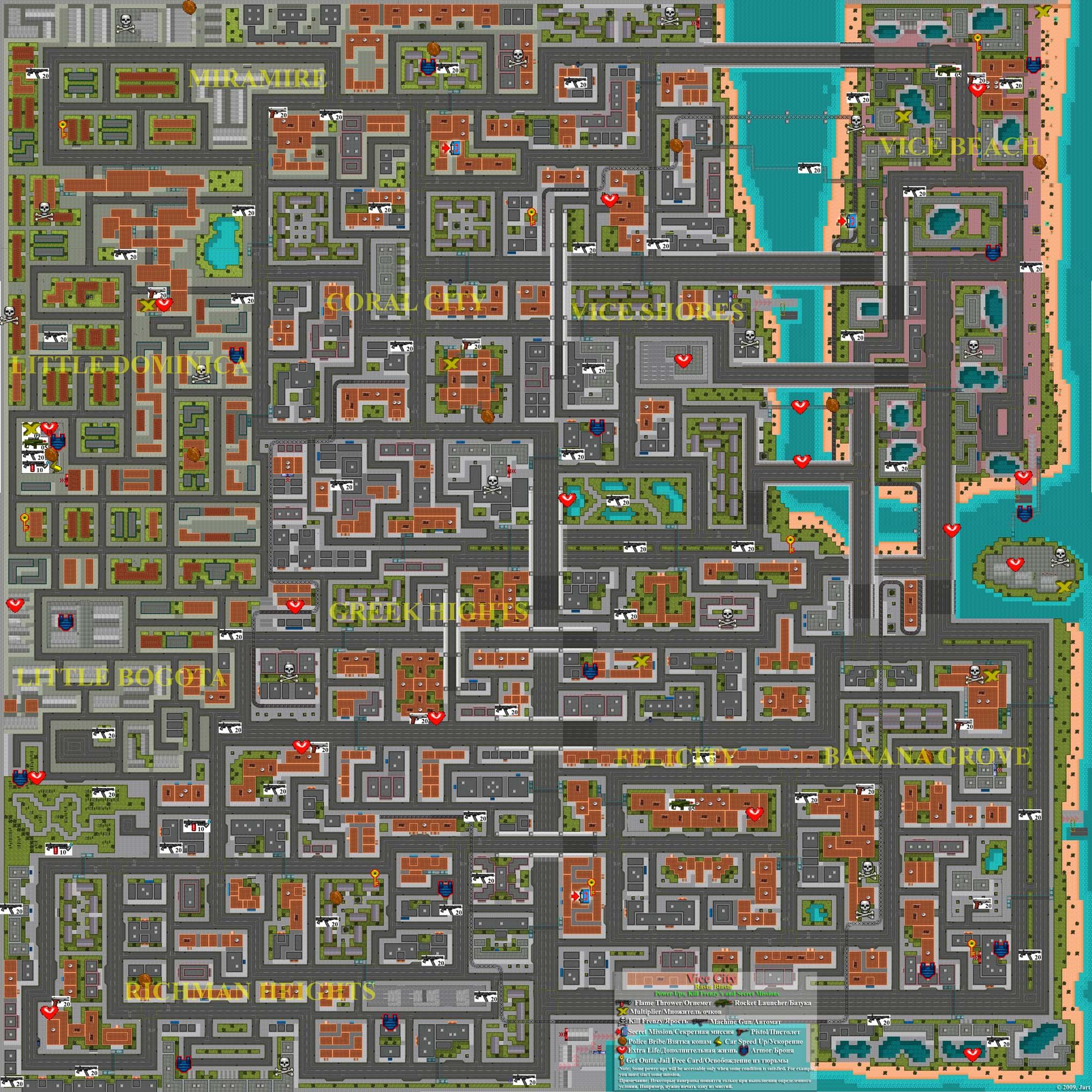 Vice City: Rasta Blasta. Full Map