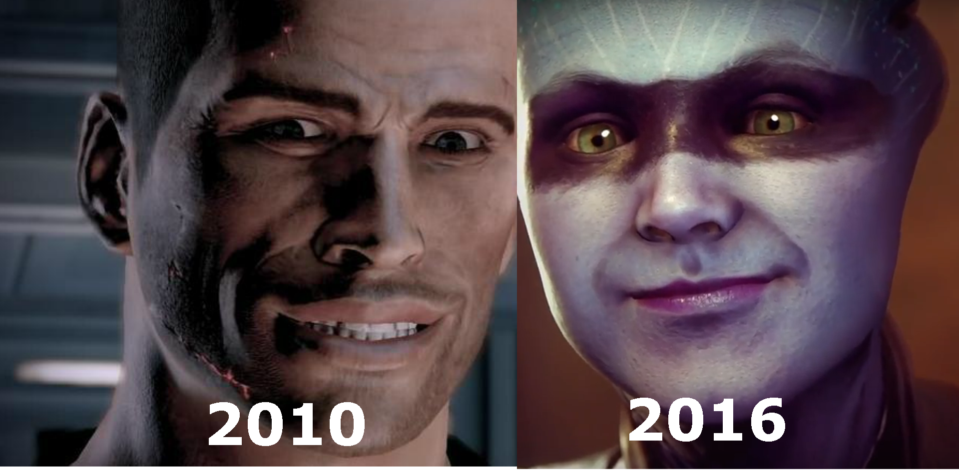 Bioware:Evolution of smile - Mass Effect 3 andromeda, p.b., shep