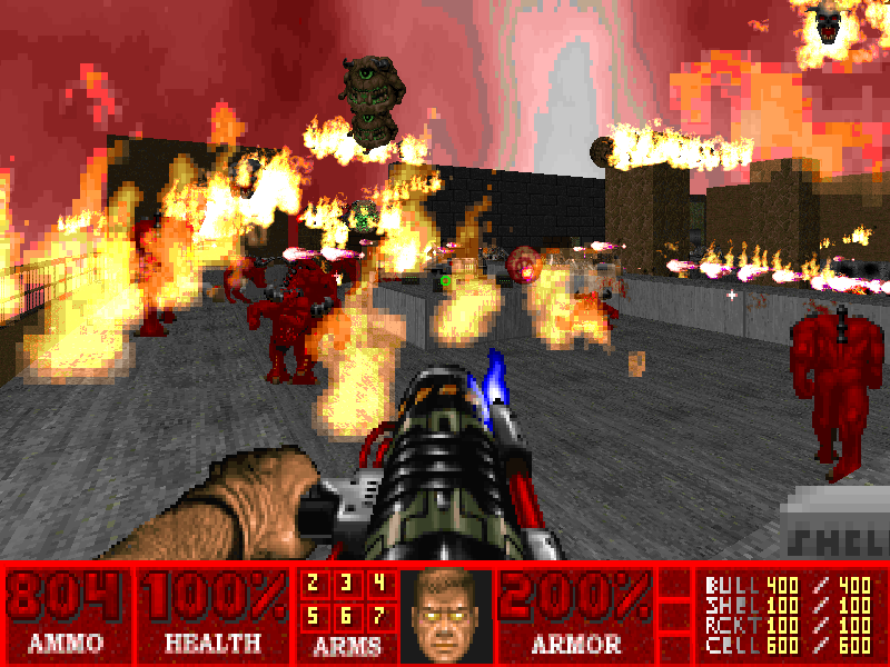 мод на замену монстров в Doom 2 - Doom 2: Hell on Earth doom 2, doom2, hell revealed, realm667, мод