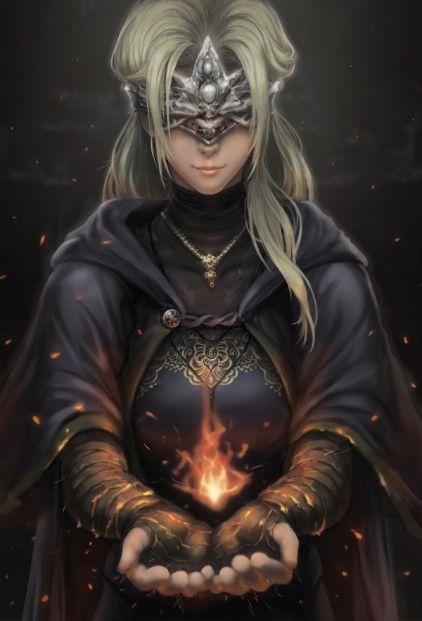z6mohMBq3bg.jpg - Dark Souls 3 art, Fire Keeper
