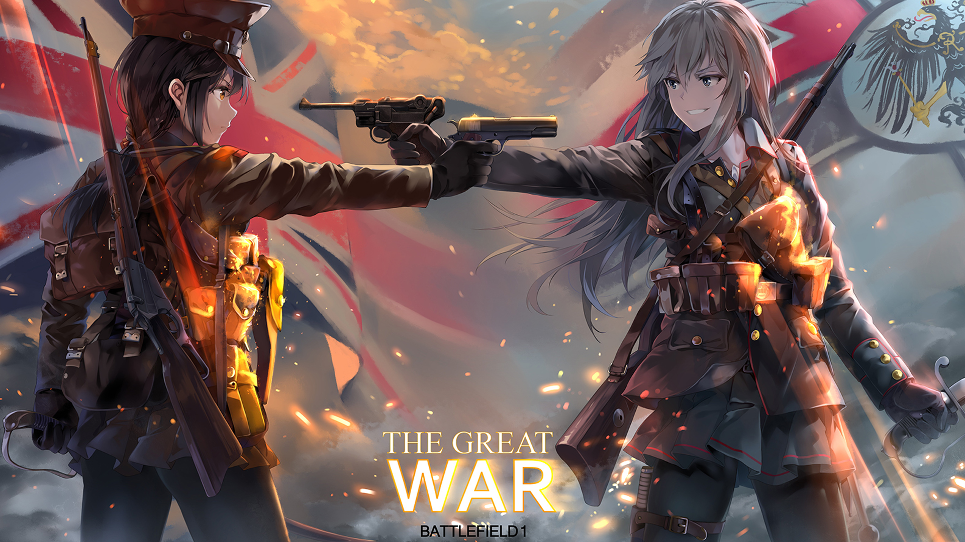 The Great War - Battlefield 1 anime, Battlefield, The Great War, арт