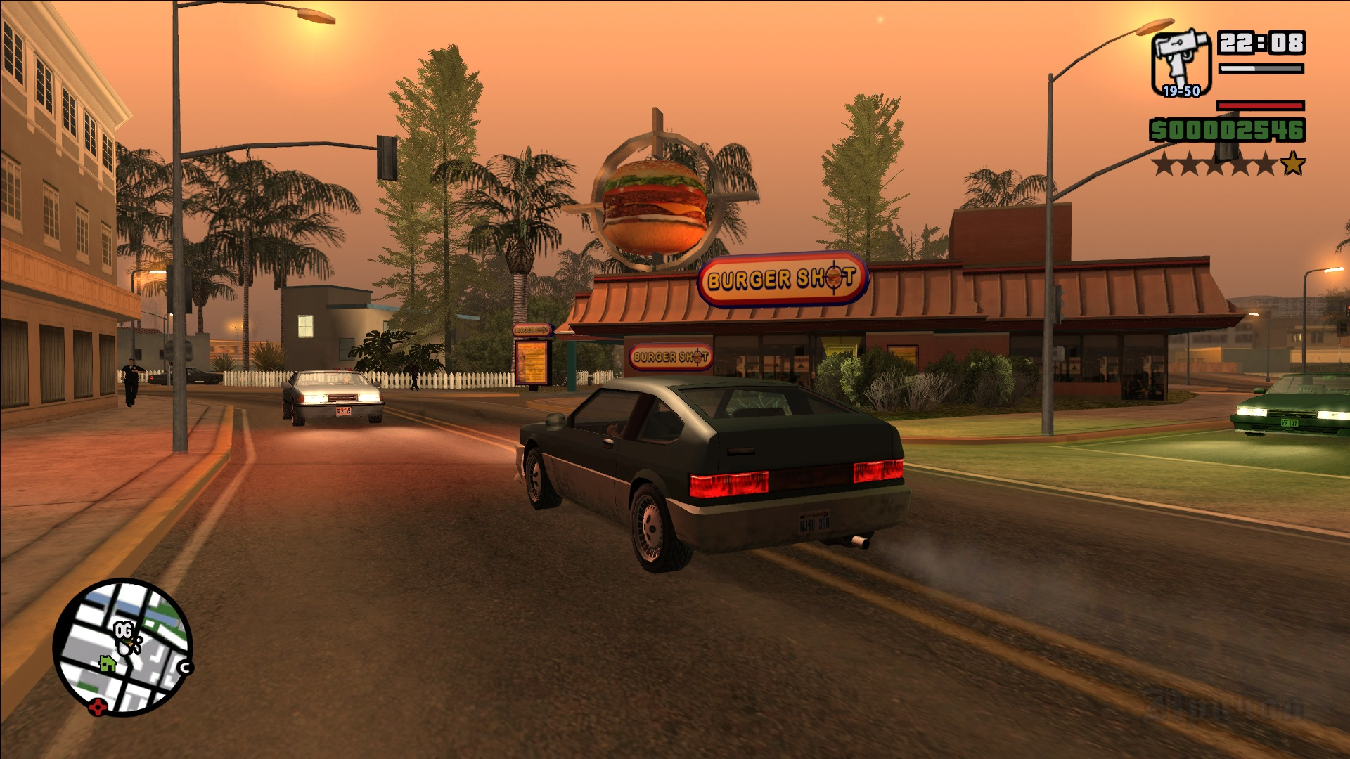 GTA San Andreas (mod - full screen and PS2 sun bloor) - Grand Theft Auto: San Andreas PS2, Моды