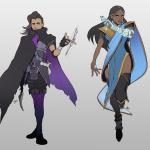 Overwatch Sombra and Symmetra Art