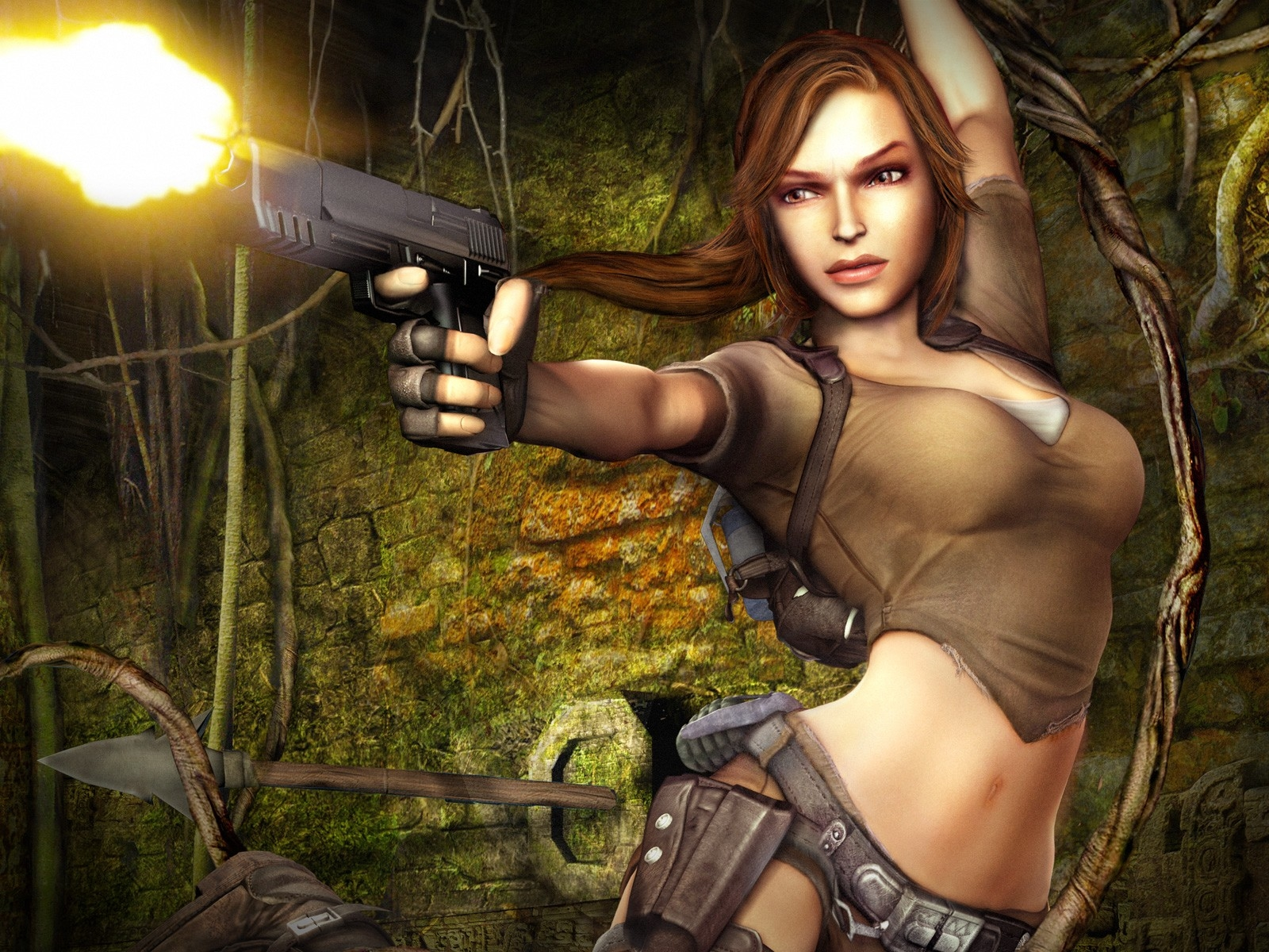 Cartoonmonster tomb raider anime images