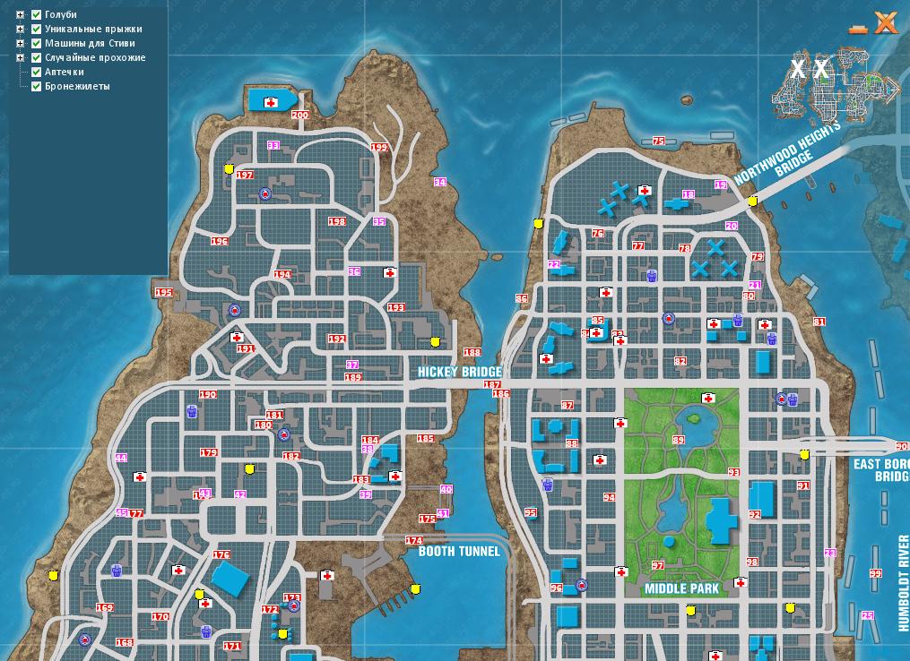Карта Голубей Гта 4
