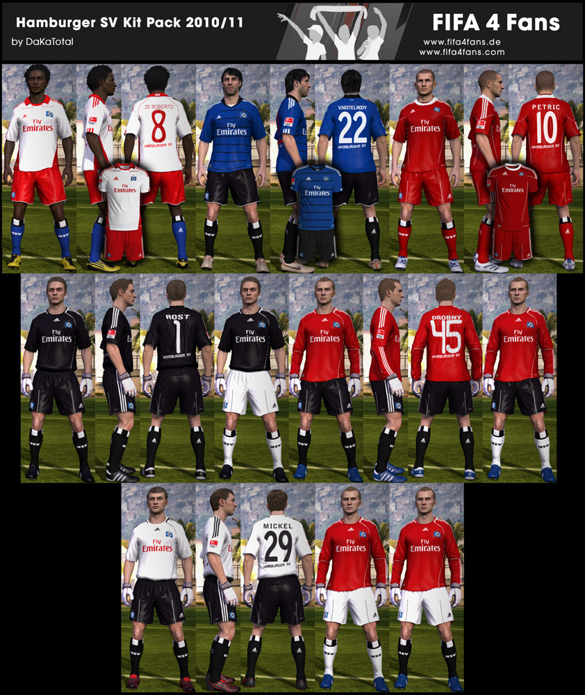 FIFA 11 формы Hamburger 2010/2011 годов .