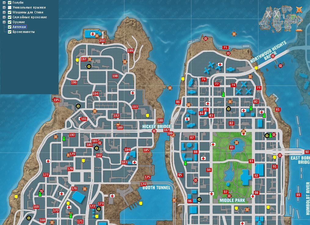 Гта 4 Карта Голубей