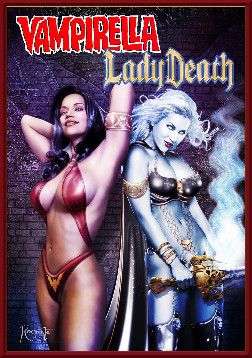 Vampirella naked on lady death smut photos