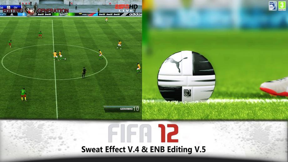 FIFA 12 Sweat Effect v.4 + ENB Editing V.5- патч который улучшает графику в