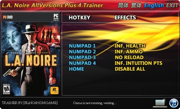 1L A Noire Trainer