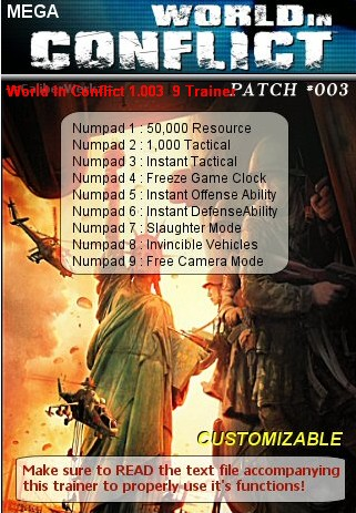 World In Conflict 1.003 9 Trainer - World in Conflict
