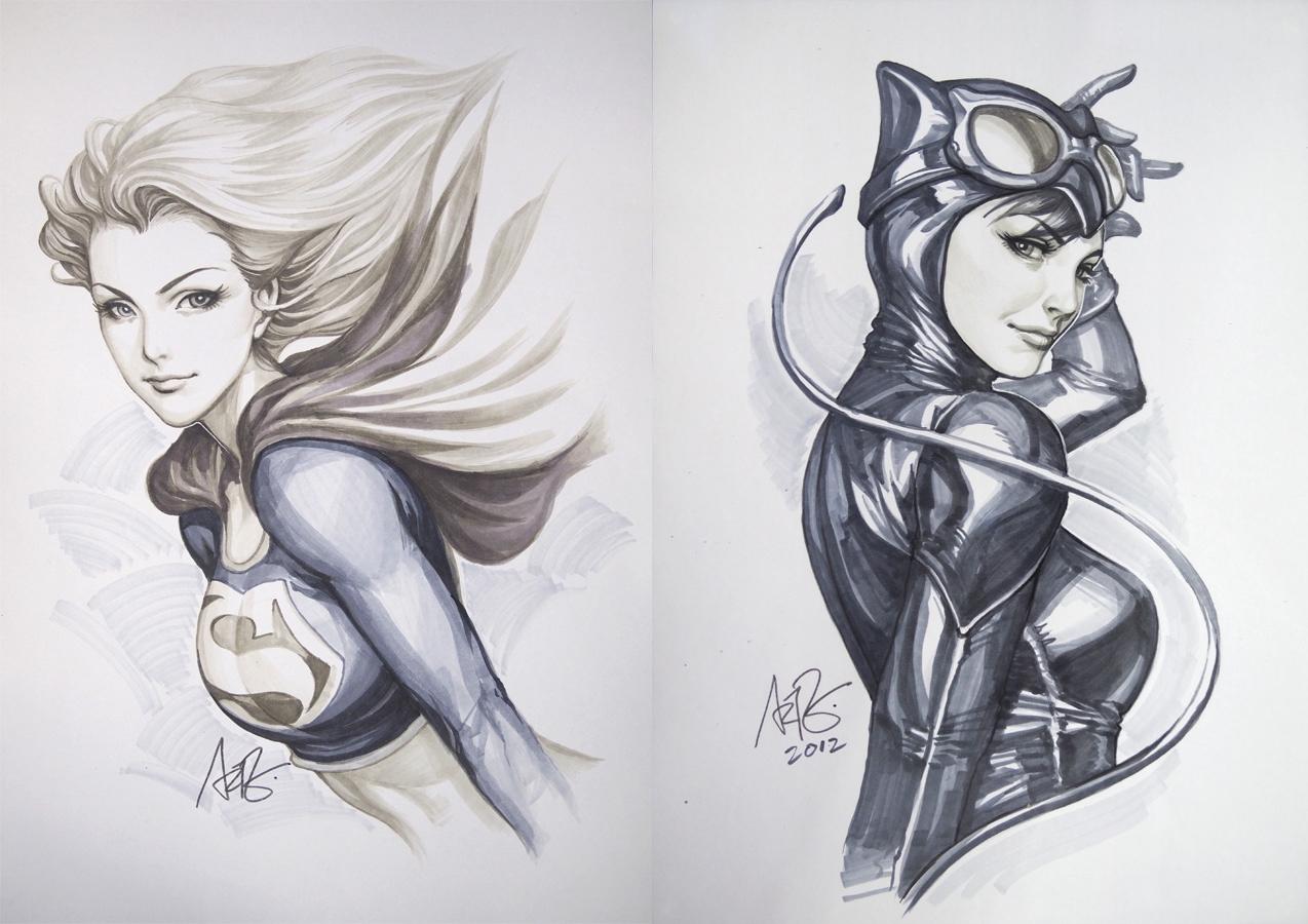 Рисованные девушки из комиксов 1 фотография
