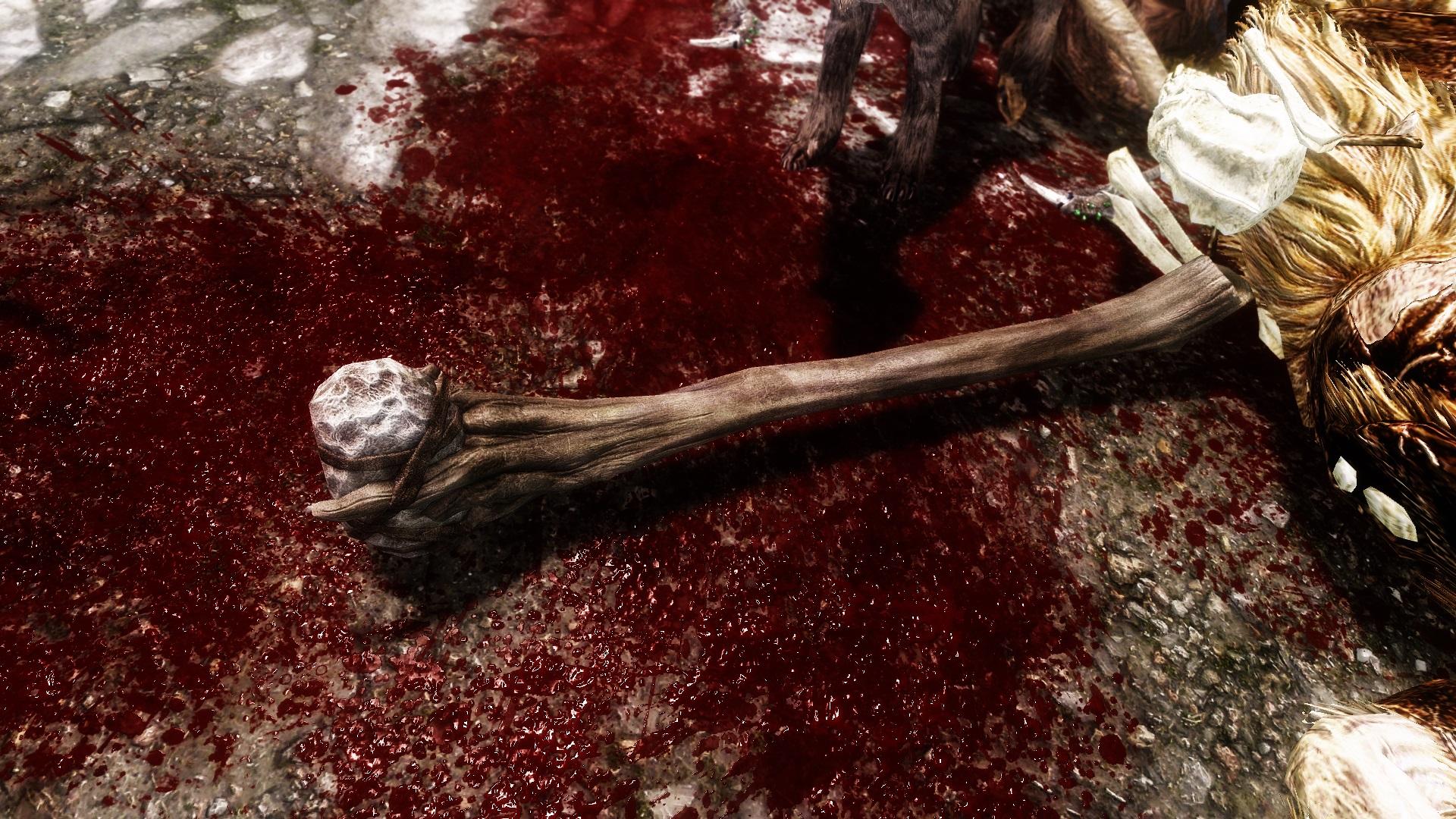 Скачать мод много крови на скайрим