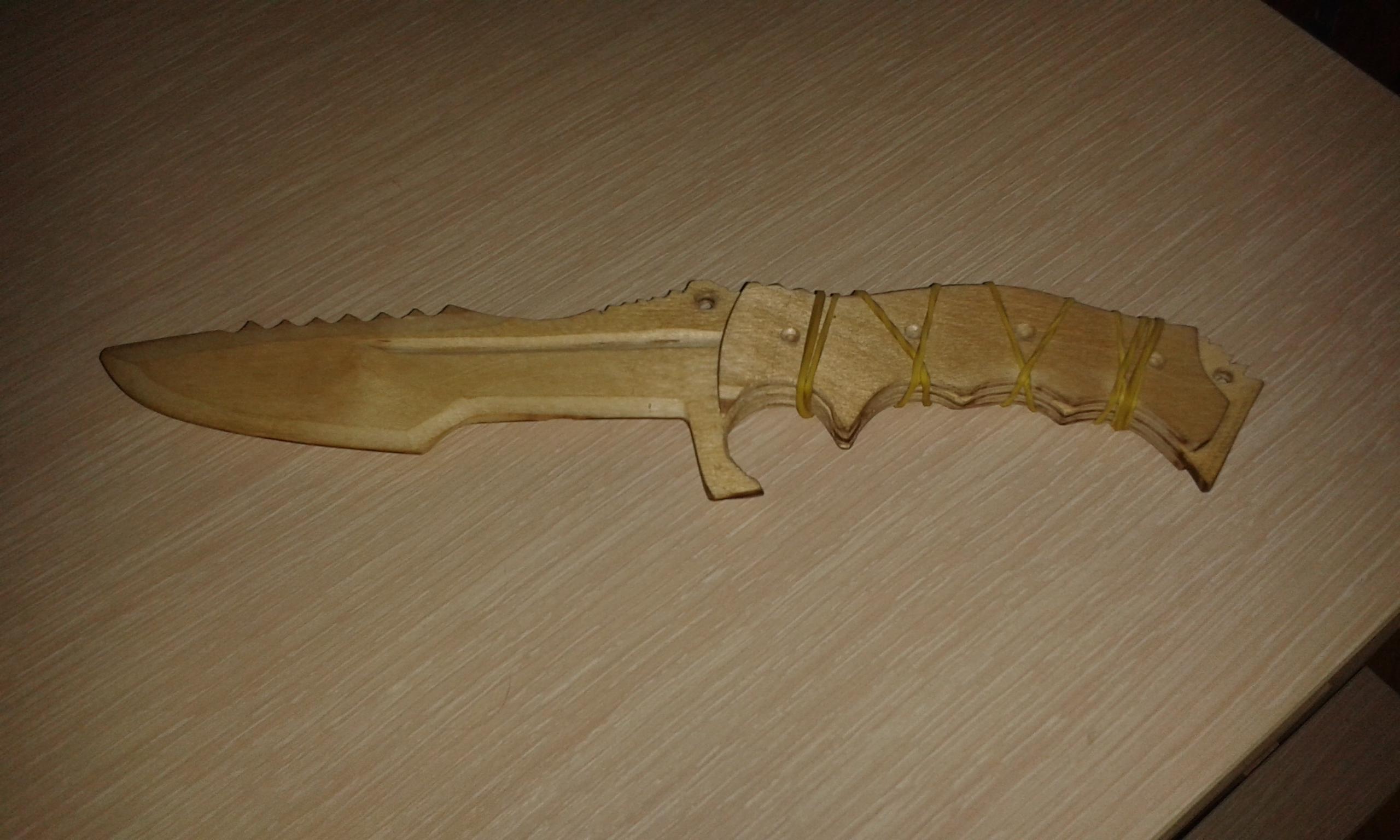 Как сделать из бумаги охотничий нож из кс го из10