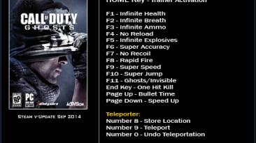 Call of Duty ~ Ghosts: Трейнер/Trainer (+16) [Update: September 2014] {LinGon}