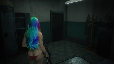 """Resident Evil 2 """"Радужные волосы для Клэр"""""""