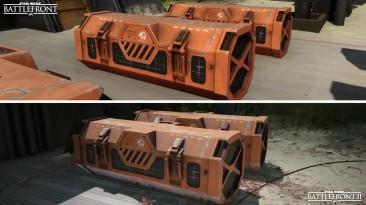 Сравнение графики планеты Скариф в Battlefront (2015) и Battlefront II (2017)