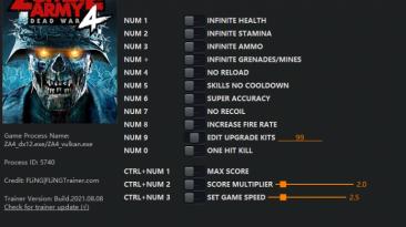 Zombie Army 4: Dead War: Трейнер/Trainer (+14) [1.0 - 3.21] {FLiNG}