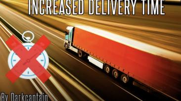 """Euro Truck Simulator 2 """"Увеличенное время доставки грузов fix от 10.04.2021 (1.40)"""""""