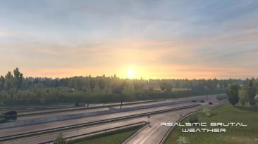 "American Truck Simulator ""Реалистичная и безжалостная погода v3.0 (1.39.x)"""