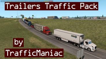 """American Truck Simulator """"Пак прицепов в трафик v4.0"""""""